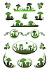 Vector clipart: Vignettes with mushrooms