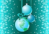 Vector clipart: Winter card with earth globe