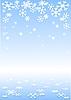 зимний фон из снежинок