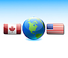 Vector clipart: USA and Canada