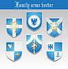 Vektor Cliparts: Set von Wappen