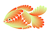 Vector clipart: small gold fish
