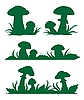 Vector clipart: Mushrooms