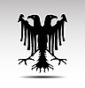 Vector clipart: two headed eagle