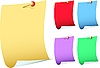 Vector clipart: Sheets of paper