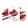 Vector clipart: painted flag of Canada