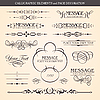 Vector clipart: Calligraphic design elements