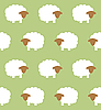 Seamless texture with sheep