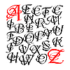 Векторный клипарт: Каллиграфические буквицц