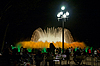 Photo 300 DPI: famous Montjuic Fountain in Barcelona in the night