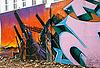 Graffiti wall in Donetsk   Stock Foto