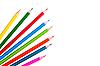 ID 3040502 | Kolorowe kredki samodzielnie na biały | Foto stockowe wysokiej rozdzielczości | KLIPARTO