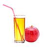 ID 3040510 | Red apple with juice | Foto stockowe wysokiej rozdzielczości | KLIPARTO