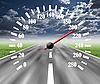 公路里程表 | 免版税照片