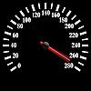 Black speedometer | Stock Illustration