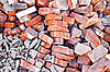 Heap of red bricks | Stock Foto