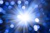 Photo 300 DPI: Defocused abstract blue christmas background