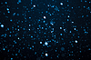 Falling Snow On Blue Background | Stock Foto
