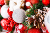 Beautiful Christmas Decoration with Snow, buds and | Stock Foto