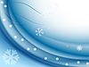 Vector clipart: blue background with snowflakes