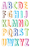 Vector clipart: abc letters