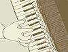 Vector clipart: accordion sketch