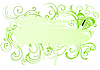 Vector clipart: floral frame with butterfly