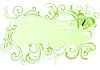 Векторный клипарт: цветочная рамка с бабочкой
