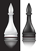 Vector clipart: black and white chess bishop