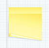 Vector clipart: blank yellow notice paper