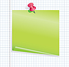 Vector clipart: blank green notice paper