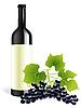 Векторный клипарт: бутылка вина