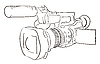 Vector clipart: camcorder
