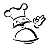 Vector clipart: chef with plate