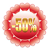 Vector clipart: discount label with hearts