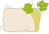 Vector clipart: frame with grape