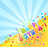 Vector clipart: happy birthday card