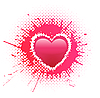 Vector clipart: heart on grunge spots