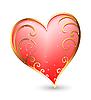 Vector clipart: heart with golden elements