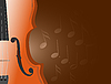 Vector clipart: violin with notes