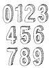 Vector clipart: set of numbers