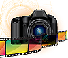 Vector clipart: camera and film