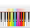 Multicolored piano keyboard