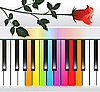 Vector clipart: Multicolored piano