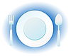 Vector clipart: plate, knife and fork