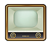 Vector clipart: old tv-set