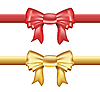 Vector clipart: golden and red ribbons