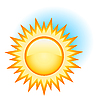 Vector clipart: yellow sun