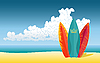 Vector clipart: surfboards