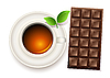 Vector clipart: tea and chocolate